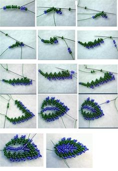 7 Beaded leaves tutorial