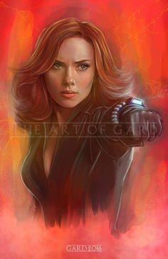"Natasha Romanova A.K.A ""Black Widow"" (Scarlett Johansson) by Gard via The Art of GARD"