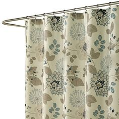 Lovely Natural Motif Shower Curtain