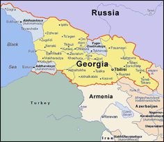 The country of Georgia gained its independence from Russia in 1991 and it is the northeastern neighbor of Turkey. Description from bongvivang.blogspot.com. I searched for this on bing.com/images