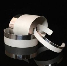 Sterling Silver Linea Cuffs | Modern Artifacts
