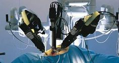 NASA has been testing a remote-controlled robot surgeon in an undersea laboratory off the coast of Florida. For one exercise, surgical researchers miles away sent commands to the robot, which managed to successfully suture a badly damaged vein. Surgical Robots, Surgical Tech, Medical Robots, Medical Technology, Intuitive Surgical, Prostate Cancer Treatment, Robotic Surgery, Laparoscopic Surgery, Weight Loss Surgery