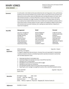 Sales assistant CV example, shop, store, resume, retail curriculum ...