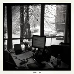 Office in the snow- wonderfull