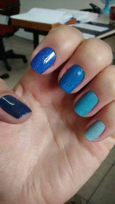 #blue #degrade #nailsart