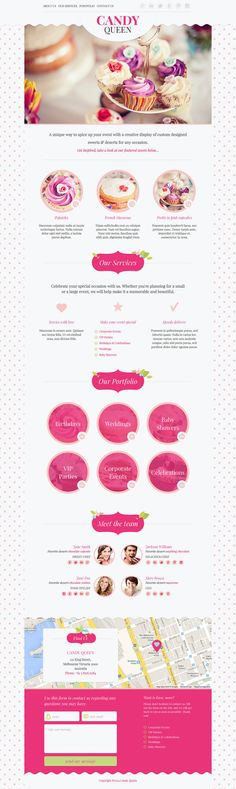 Web template for candy boutique, florist design studio or beauty salon, this beautiful and clean responsive one page design is suitable for anyone who want's to showcase their portfolio...