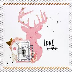 Layout created with Crate Paper Hello Love Collection. Love Scrapbook, Scrapbook Sketches, Scrapbook Paper Crafts, Scrapbooking Layouts, Scrapbook Pages, Crate Paper, Reno, Layout Inspiration, Crafty Craft