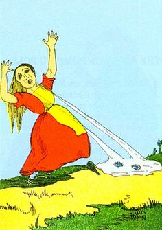 """From the macabre Heinrich Hoffman's 1845 bedtime classic Struwwelpeter (The girl who """"cried her eyes out"""")."""