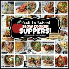 Back to School Slow Cooker Suppers!