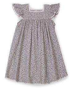 Purple Floral Angelique Dress - Toddler & Girls