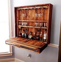 This is a great ideas for storing your whiskey or wine!  www.thevintagegentlemen.com