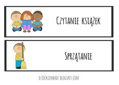 Dzieckiem bądź: Ilustrowany plan dnia DO POBRANIA How To Plan, Education, Comics, Logos, School, Google, Logo, Cartoons, Onderwijs