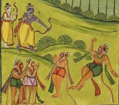 Indian Epics: Images and PDE Epics: PDE Ramayana: Vali's Death