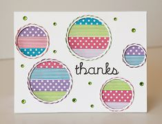 Thanks featuring Queen & Co Trendy Tape in Polka dots and stripes - Scrapbook.com