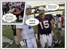 Tebow tebowing for.....Manning?