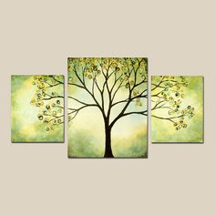 trees on canvas- I would really like to do this