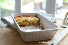 baby & toddler food: fish and vegetable bake #onehandedcooks