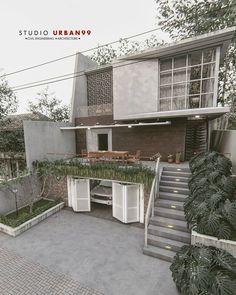Minimalist House Design, Minimalist Home, Modern House Design, Home Building Design, Home Room Design, Building A House, Facade Design, Exterior Design, Architect Design House