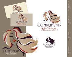 logo design for COMPLIMENTS Hair Design.