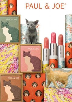 Makeup for Cat Ladies by Paul & Joe  I don't love cats THIS much, but the designs are adorable. Especially the lipstick.