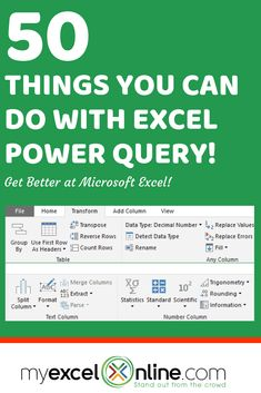 Excel Power Query is a brilliant new feature in Microsoft Excel. Click here to learn 50 Incredible ways in which you can use Excel Power Query.