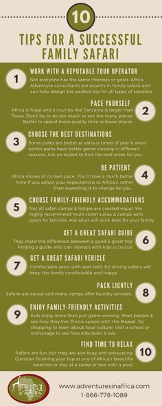 Top 10 Tips for a Successful Family Safari infographic