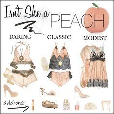 What to Wear Wednesdays: Isn't She A Peach! #whattowear #boudoir…