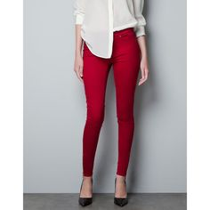 Zara Stretch Jegging ($30) ❤ liked on Polyvore