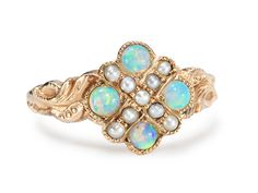 Embellished Opal Pearl Ring