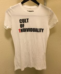 ☀NEW☀Cult of Individuality Women's T-Shirt Tee White 100% Cotton USA  | eBay