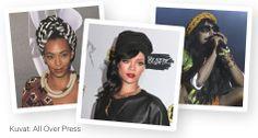 Huivityylin esimerkkiä näyttävät tyylikameleontti Rihanna, viime kesänä Suomessa Flow Festivalissa esiintynyt Solange Knowles ja tämän kesän Provinssirockiin saapuva M.I.A. Nämä naiset ovat tunnettuja asustekokeilijoita, joiden huivityyleistä jokainen voi ottaa mallia. Solange Knowles, Rihanna, Polaroid Film
