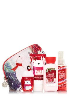 Winter Candy Apple Merry On-the-Go Gift Set - Signature Collection - Bath & Body Works