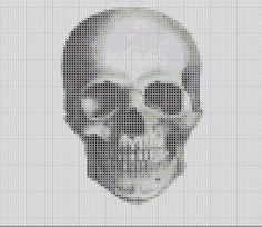 Victorian Human Skull Study Cross Stitch by TheSoftScientist