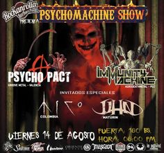 "Rockanrolla presenta: ""PsychoMachine Show"" http://crestametalica.com/events/rockanrolla-presenta-psychomachine-show/ vía @crestametalica"