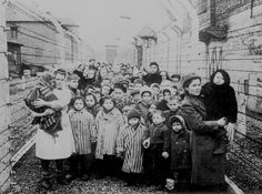 The freed children from the Auschwitz concentration camp.