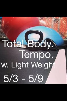 This week's focuses are Total Body & Tempo w. light weight. 5/3-5/9. Only at Poise Fitness