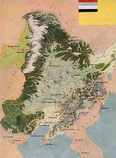 Manchukuo Map.