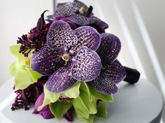 Exotic and modern purple plum bouquet