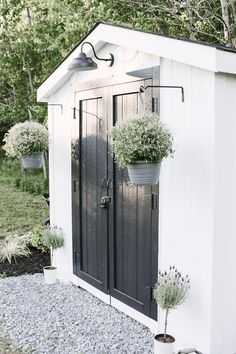 Backyard Sheds, Backyard Patio, Backyard Landscaping, Backyard Projects, Shed Makeover, Backyard Makeover, Farmhouse Sheds, Modern Farmhouse, Outdoor Spaces