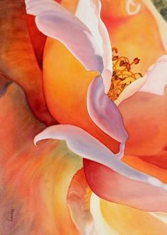 Watercolour Flower Paintings by Marney Ward Marney grew up in North Vancouver in the sixties and has been interested in perception, consciousness and creativity for most of her life. In the late Art Floral, Silk Painting, Painting & Drawing, Watercolor Flowers, Watercolor Art, Watercolour Paintings, Watercolor Portraits, Watercolor Landscape, Abstract Paintings