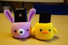 Crochet amigurumi pattern PDF Cell phone holder by fingerstory