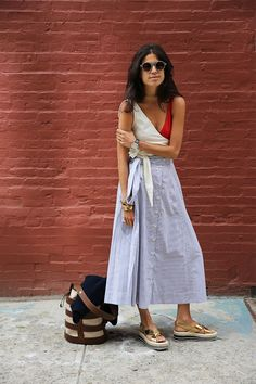 skirting it. Leandra in NYC. #ManRepeller