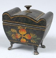 Toleware Hinged Lid Snuff Box http://www.liveauctioneers.com/item/8052959