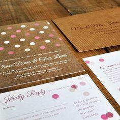 Geometric Confetti Wedding Invitation - Feel Good Wedding Invitations