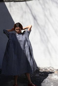 Veritecoeur Check Cotton Dress