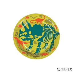 Dino Dig Dessert Plates - OrientalTrading.com