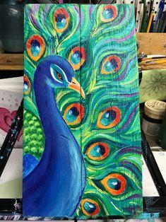 Peacock Wall Art, Octopus Wall Art, Peacock Painting, Peacock Decor, Fabric Painting, Pelican Art, Summer Painting, Madhubani Art, Indian Folk Art