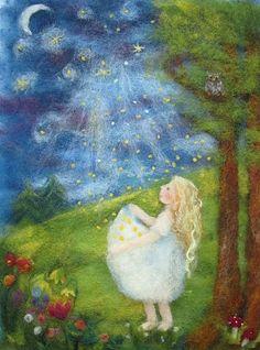 Lazure Painting, Wool Dolls, Chalkboard Drawings, Felt Pictures, Felt Fairy, Wool Art, Angel Art, Photo Canvas, Felt Christmas
