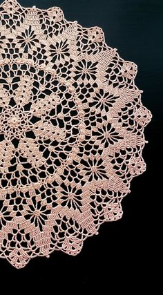 Orange Round Crochet Doily Peach Round Crochet Doily