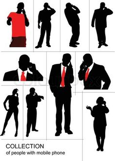 talking on phone silhouette